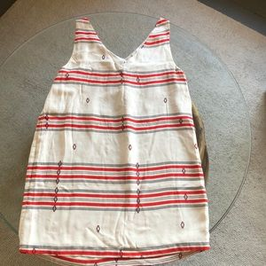 Joie silk mini dress with red print size large